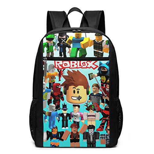 Ro-B-Lox 3D Backpack, Lightweight Multi-Function College School Laptop Book Bag 17 Inch - Black - One Size