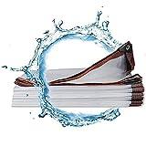 Jonist Cubierta de Lona Transparente Impermeable 20 'x 23', Lona Transparente Resistente al Agua, Lona Transparente con Ojales, Lluvia, Nieve, Polvo, Viento, Cubierta al Aire Libre y Uso en Camping