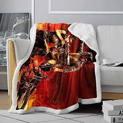 Couverture de Jet d'impression 3D Shaliz Theron Blanche-Neige et Le Chasseur Couverture de climatisation Couverture d'impression d'acteur Couverture Polaire Douce pour Personnes âgées 120x150cm