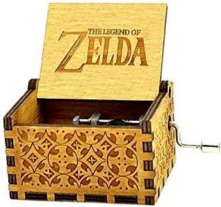 Sooye The Legend of Zelda Music Box- 18 Note Mechanism Antique Carved Wood Gifts (Zelda)