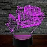 Luce notturna 3D per carrello elevatore LED Telecomando con luce colorata che cambia colore e interruttore tattile per regali di compleanno e regali di festa