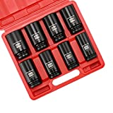 Get MIXPOWER 3/4-Inch Drive Deep Impact Socket Set, Inch, Cr-Mo, 6-Point, 1-Inch - 1-1/2-Inch, 8-Piece 3/4