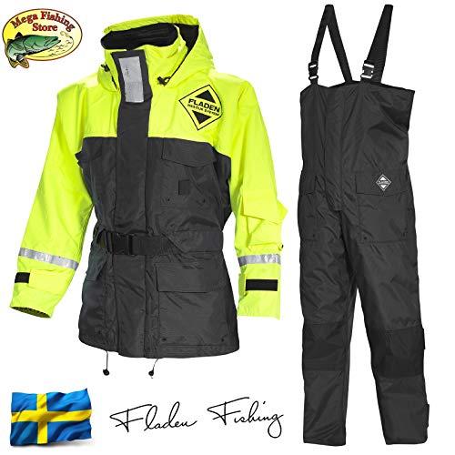 Fladen Fishing Rescue System Schwimmanzug - Floatinganzug Überlebensanzug Norwegen - Flotation Overall - Floater 2-Teiler (XXL / 90-135kg / 190-198cm)
