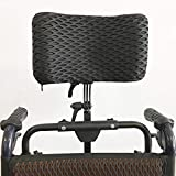 Wheelchair Headrest Neck Support Head Padding Wheelchairs Pillow Aluminum Alloy Easy to Install/Headrest Adjustable Range 350Mm-500Mm