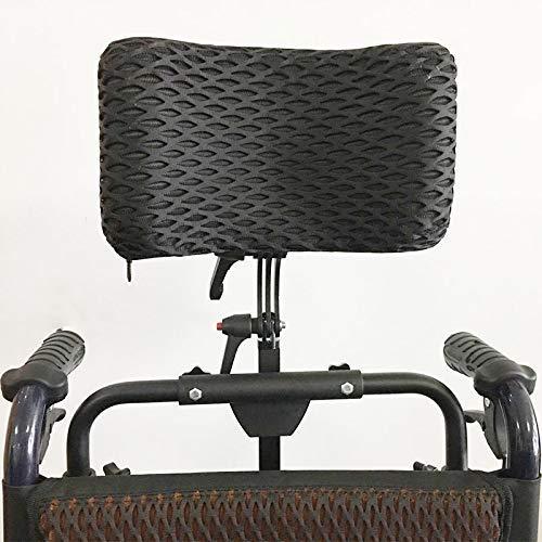 Rollstuhl Verstellbare Kopfstütze Nackenstütze Kopfpolsterung Rollstühle Kissen Aluminiumlegierung Einfach zu installieren/Kopfstütze Einstellbereich 350Mm-500Mm