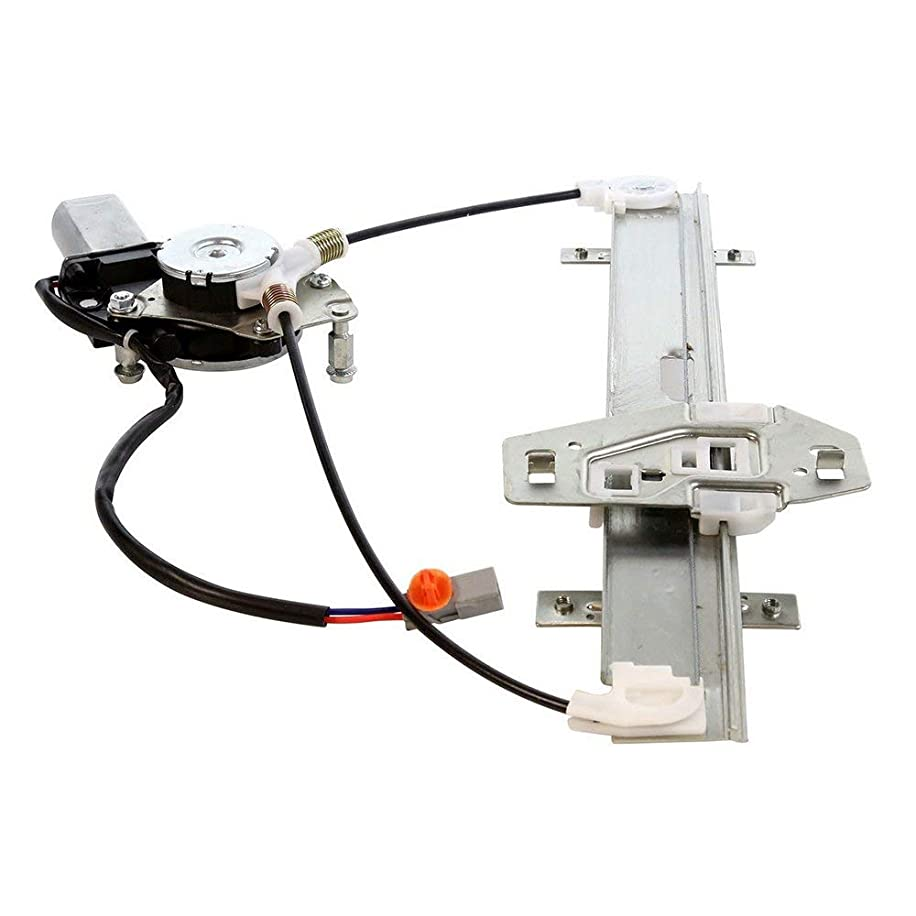 Rear Left Driver Power Window Regulator with Motor Compatible for 2001-2006 Acura MDX Base & Touring