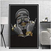 ラッパー音楽歌手スターアート絵画ポスターとプリントキャンバス壁の写真リビングルームの家の装飾