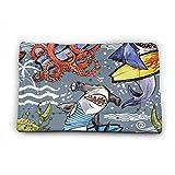 SKY-STAR Katzenbett mit Oktopus-Haifischmotiv, verdickte Baumwolle, für kleine, mittelgroße und große Hunde und Katzen geeignet