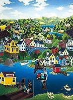 ジグソーパズル300ピース街の風景おもちゃギフトクリエイティブ減圧DIYチャレンジアート画像38 * 52cm