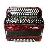 ACORDEON CROMATICO - Hohner (A1243) (Nova II) (80 Bajos) (Rojo con Funda de Calidad)