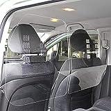 LRJQJ アクリル板 車内の飛沫ブロッカー 隔離カーテン 仕切り板 プレキシガラスシート 保護シールド パーテーション くね防止ガード 車向け飛沫感染防止用 車向け アクリル板 透明 間仕切り 車の保護シールド 優れた耐衝撃性 取り付け簡単?60cm*60cm ボード (クリア,60*60CM)