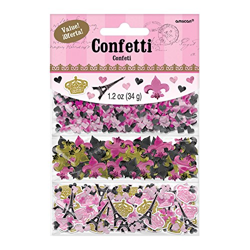 Amscan 360235 Party Supplies Day in Paris Value Pack Confetti, One Size, Multi Color