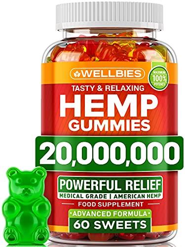 Hemp Gummies - Brain Booster Supplement for Focus, Memory, Clarity,...