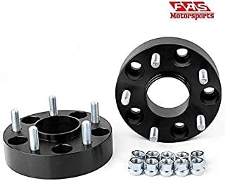 4x156 Wheel Spacers (1 Inches) 25.4mm (131mm bore,  12x1.5 Studs & Nuts) 4 Lug wheelspacer for Polaris Ranger,  RZR,  XP 1000,  S 900,  S 1000,  ATV,  UTV (Silver) (4 pieces)