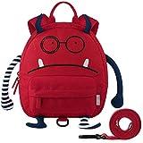 GAGAKU Kinderrucksack mit Brustgurt Mini Cartoon Kinder Rucksack für Mädchen - Rot