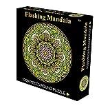 CYBERNOVA 1000 Piezas de Rompecabezas Redondos Que Destellan el Juego Intelectual de la Mandala