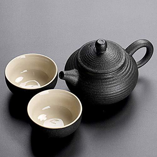ZJSXIA Juego de té Vajilla Negra Tetera de cerámica Teteras Tazas de té Porcelana China Kung Fu Tea Juego de té Juego