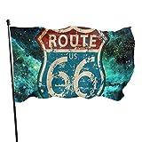 Bandera de jardín patio al aire libre bandera con ojales de latón América carretera viaje estilo de vida ruta 66 bandera mosca decoración interior del hogar