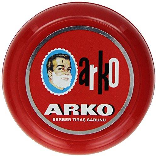 ARKO - Jabón de crema de afeitar con tazón, 90 gramos x 2 tubos.