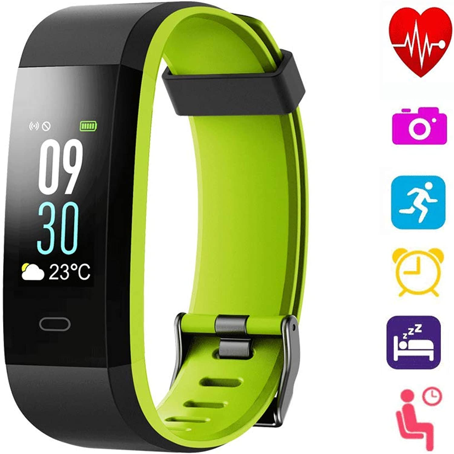"Fitness Tracker, blueetooth 4.0 Activity Tracker Watch with 0.96""OLED color Screen and Waterproof Heart Rate Monitor, Pedometer, Sleep & GPS Tracking for Kids Women and Men, Android & iOS Smart Phones"