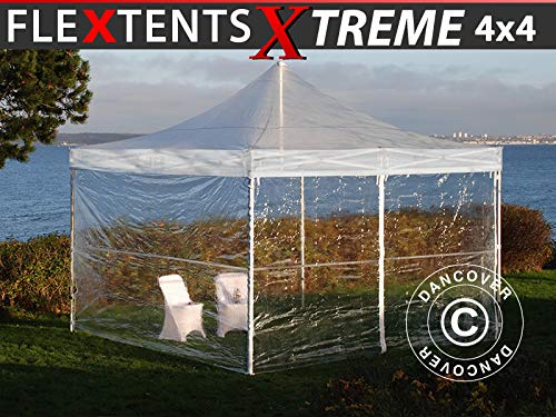 Dancover Vouwtent/Easy up tent FleXtents Xtreme 50 4x4m Doorzichtig, inkl. 4 Zijwanden