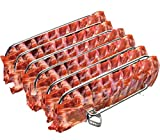 Rib Rack Stainless Steel – 6-Rib Capacity! Integrated Temperature Probe Holder - Never Risk Burnt...