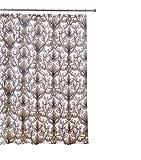 Kashi Home Ariel Duschvorhang aus Segeltuch, 70 x 178 cm, Schokoladenbraun