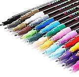 Rotuladores de Pintura Acrílica RATEL 24 Colores Prima Impermeable Permanente Rotuladores para Pintura Rupestre, Proyectos de Bricolaje, Cerámica, Vidrio, Lienzo,Taza, Metal,Madera-Punta fina de 0.7mm