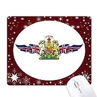 イギリスの旗の国章 オフィス用雪ゴムマウスパッド