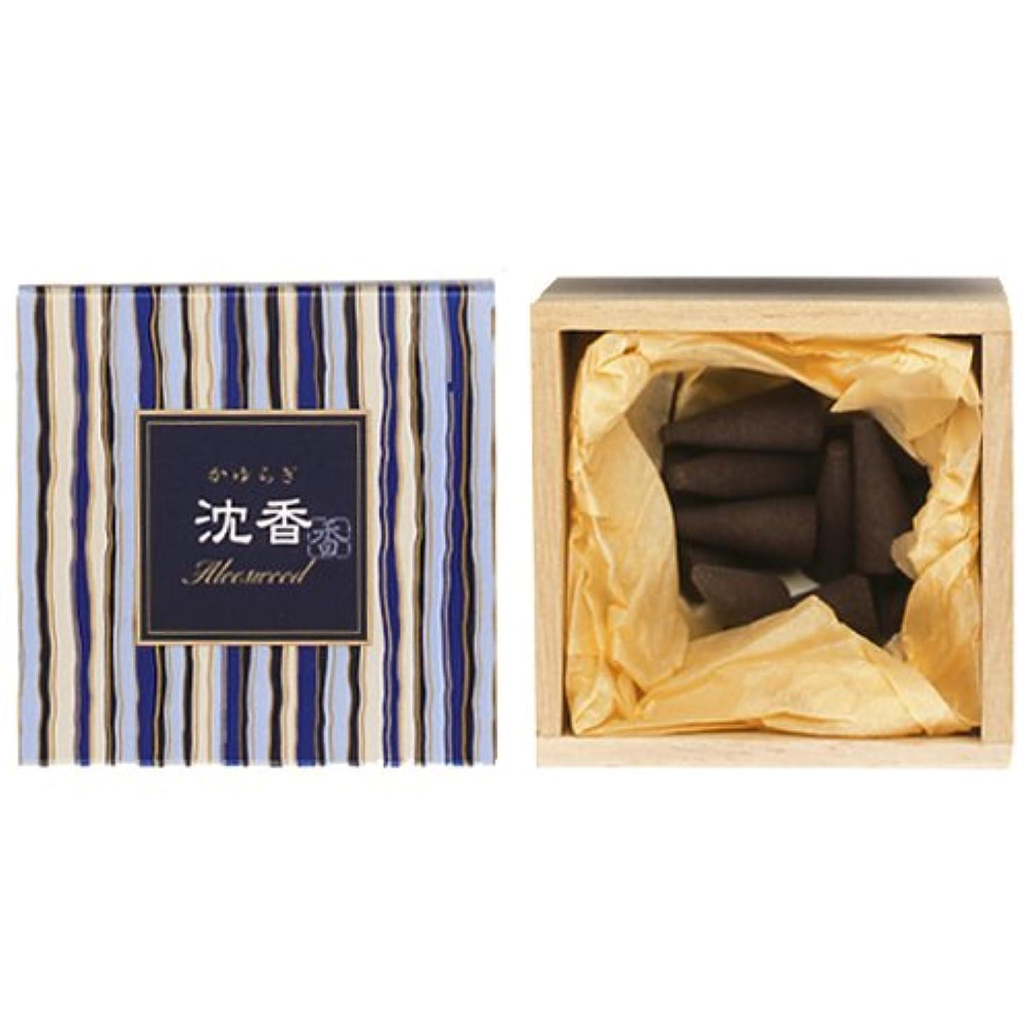 変装なる延ばす日本香道  かゆらぎ 沈香 12個入り コーン形