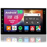 Double Din Head Unit Touch Screen Car Stereo Radio with Backup Camera Bluetooth GPS Navigation In Dash Android 7 inch Touchscreen 2 Din Car Radio Multimedia Player with RDS FM WiFi Mirror Link USB SWC