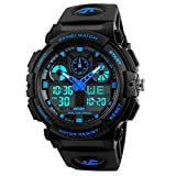 Kids Digital Sport Watch, Boys Outdoor Waterproof Analog Quartz Watch with Alarm LED