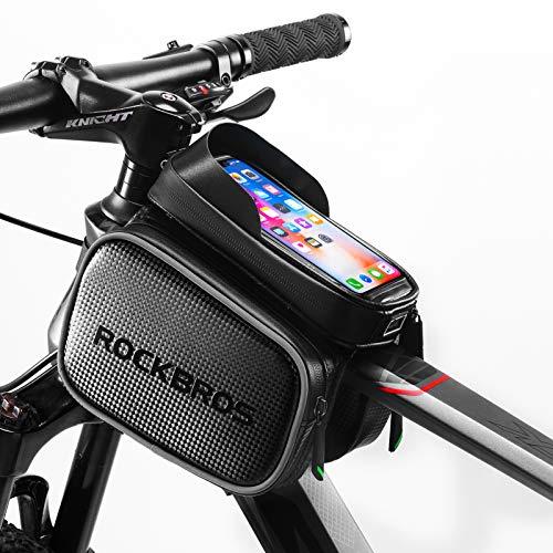ROCKBROS Bike Bag Waterproof Top Tube Phone Bag Front Frame Mountain...