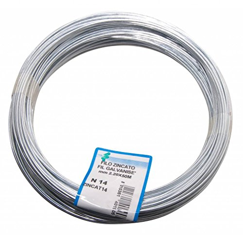 Filomat zincat14hilo galvanizado para tensión, acero, diámetro 2.2mm