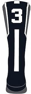 TCK Player Id Number Crew Sock - Pink/Graphite/White