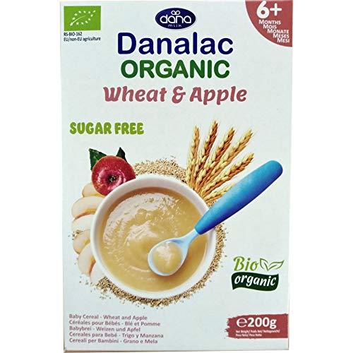 Danalac Bio Babybrei zuckerfrei 200g (Weizen und Apfel, 3er Pack)