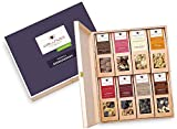 Geschenk für Männer – 8 Premium Nuss- und Schokoladen-Snacks | Geschenkbox aus Birkenholz und...