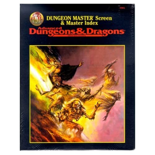 Dungeon Master Screen and Master Index