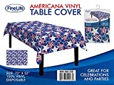 Max Sales Group Vinyl Disposable Americana Table Cover 52' X 72'