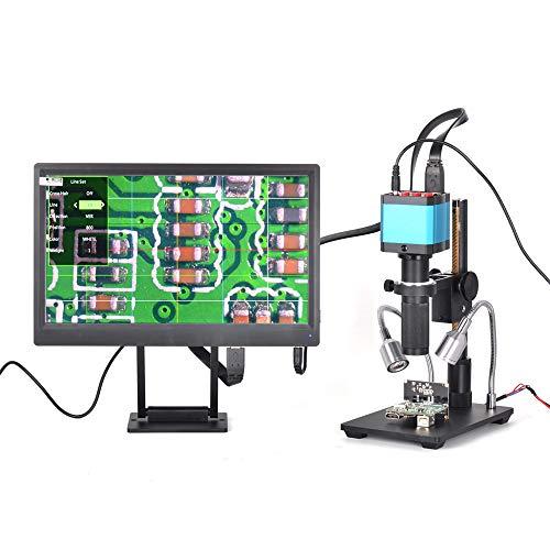HELEISH 14 millones de píxeles Pantalla Full HD en color Microscopio digital con lupa 1/2.3 pulgadas Electrón Micro digital Herramientas de accesorios