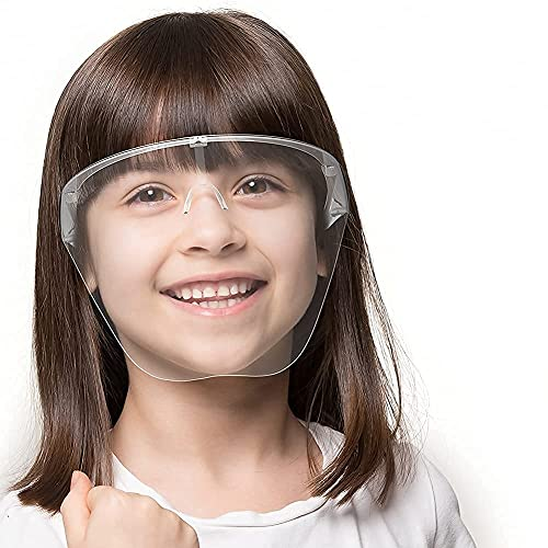 REDSUN Full Face Shield For Kids (above 8 years) | Anti-fog, Washable, fits Perfectly with Removable Nose Rest