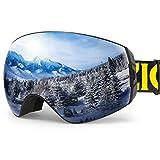 ZIONOR XA Ski Snowboard Snow Goggles for Men Women...