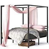 Zinus Patricia Metal Framed Canopy Four Poster Platform Bed Frame / Strong Steel Mattress Support / No Box Spring Needed, Full