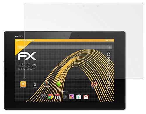 atFolix Panzerfolie kompatibel mit Sony Xperia Tablet Z2 Schutzfolie, entspiegelnde & stoßdämpfende FX Folie (2X)