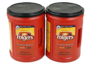 Folgers Classic Medium Roast Coffee 2-Pack of 48 Ounce Cans