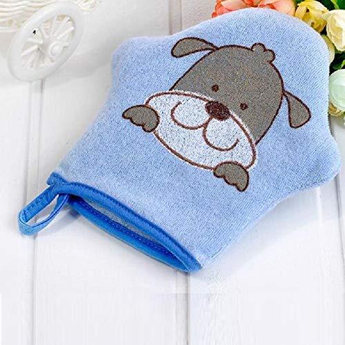 ROTOOY Sponge Care_Baby Cartoon Handschuhe Badetücher Baby Kinder Herbst und Winter Baden Baumwolle Soft Sponge Care @ B_About5 * 5CM