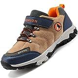 Unitysow Zapatos de Niños Zapatillas de Senderismo Botas de Montaña Impermeables Deportiva al Aire Libre Senderismo Calzado de Trekking EU31-40,Marrón,EU31