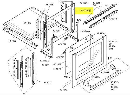 Siemens – Cristal Interieure puerta corredera – 00474587: Amazon.es: Grandes electrodomésticos
