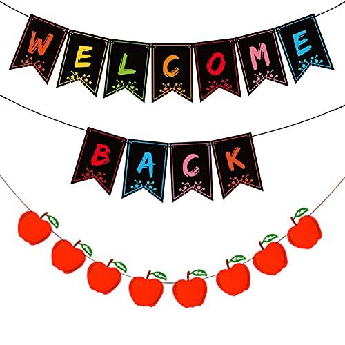 Welcome Back Banner, Benvenuto Banner per Ritorno a Scuola Festa a Casa Partito Puntelli Banner di Nuovo a Scuola Decorazioni per Feste in Famiglia