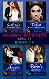 Modern Romance April 2017 Books 1-4: The Italian's One-Night Baby / The Desert King's Captive Bride / Once a Moretti Wife / The Boss's Nine-Month Negotiation (English Edition)
